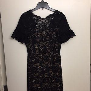 Rebecca Taylor Open Back Lace Dress 2 NWT